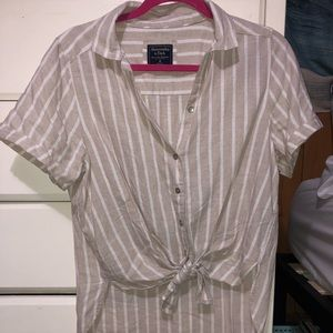 A&F Button Up Top